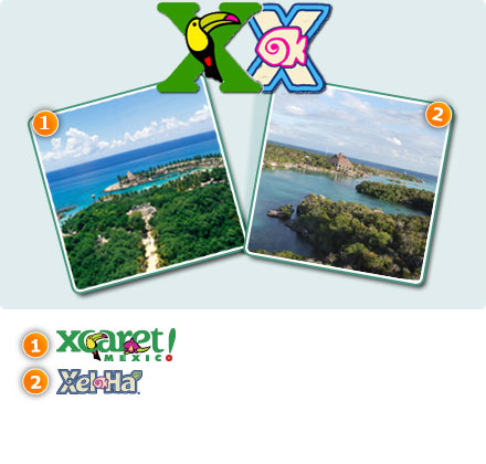 Xcaret + Xelha Combo-Only Xel-HA all inclusive Package 2<br>Xcaret plus tour  Package2<br>