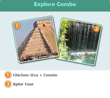 Chichen-Itza & Xplor Combo-Chichen-Itza tour + Cenote<br>Xplor Tour Package<br>