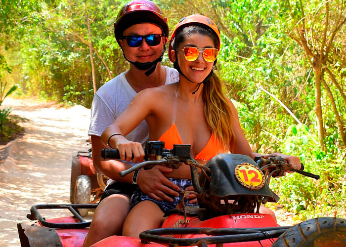 Package 3 Isla Mujeres + ATV Double + Zipline -1