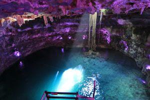Underground cenote ilumination