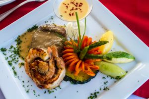 Luxury lunch in Cancun Yatch