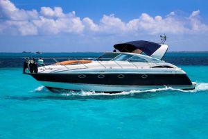 yatch in cancun caribbean sea