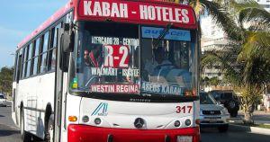 Public transportation in Cancún bus