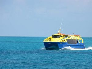 Ultramar´s ferry for maritime transportation in Isla Mujeres and Cozumel