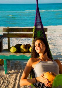 relaxing in holbox