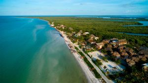 aerial view of holbox