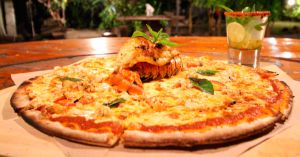 Lobster Pizza from Holbox