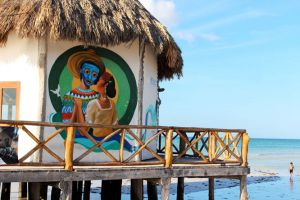 painted walls of holbox