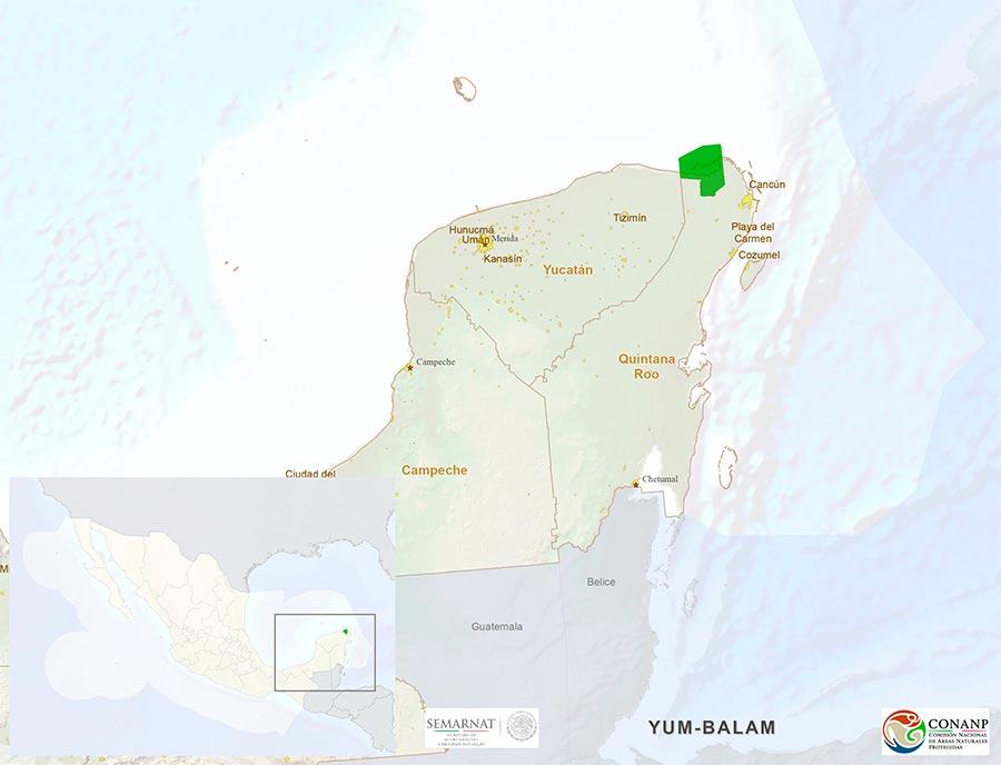 Yum Balam Map